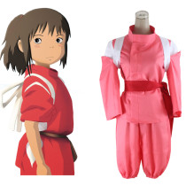 Rulercosplay Spirited Away Ogino Chihiro Pink Cosplay Costume Wholesaler Resaler
