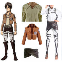 Rulercosplay Attack On Titan (Shingeki No Kyojin) Eren Jaeger Survey Crops Cosplay Costume Wholesale