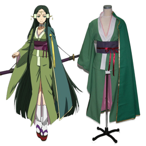 Rulercosplay Sword Art Online I (ALfheim Online) Sakuya Green Uniform Cloth Cosplay Costume Wholesal