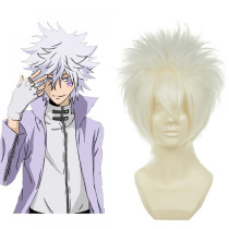 Rulercosplay Reborn! Byakuran Short White Cosplay Anime Wigs Wholesaler Resaler