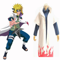 Rulercosplay Naruto Namikaze Minato Pattern White Cotton Cape Cosplay Costume Wholesaler Resaler