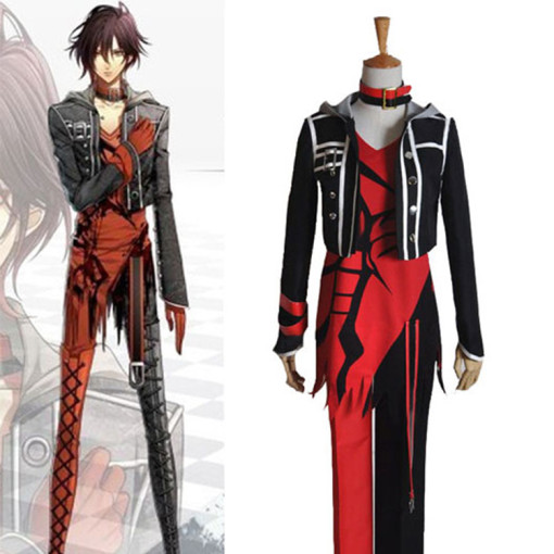 Rulercosplay AMNESIA Shin Cosplay Red Uniform Cloth Costume Wholesaler Resaler