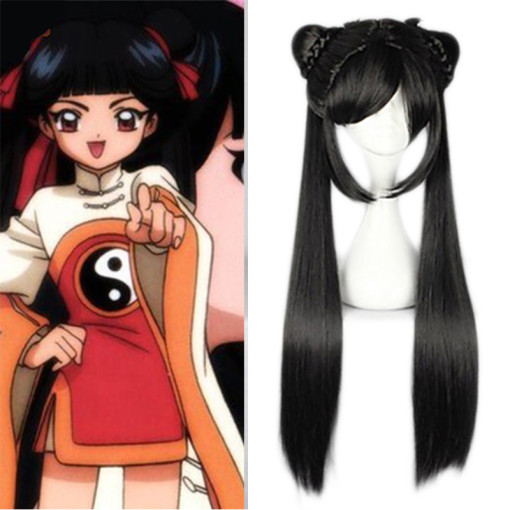 Rulercosplay Cardcaptor Sakura Li Meiling Long Straight Black Cosplay Anime Wigs Wholesaler Resaler
