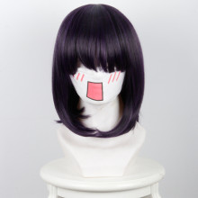 Rulercosplay BIG GANGAN Happiness And Petard Purple And Black Ombre Short Bobo Anime Cosplay Wigs