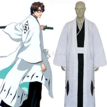 Rulercosplay Bleach 5th Division Captain Aizen Sousuke White Cosplay Costume Wholesaler Resaler