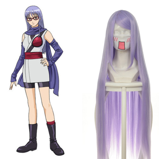 Rulercosplay Gintama Sarutobi Ayame Long Light Purple Anime Cosplay Wigs Wholesaler Resaler