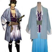Rulercosplay Hakuouki Nagakura Shinpachi Blue Cosplay Costume Wholesaler Resaler