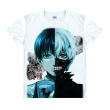 Tokyo Ghoul Fashion Animation White Smooth Decron T-shirt 049 More Patterns