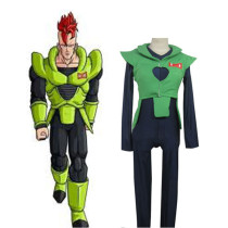 Rulercosplay Dragon Ball Andriod Uniform Cloth Combined Leather Green Cospaly Costume Wholesaler Res
