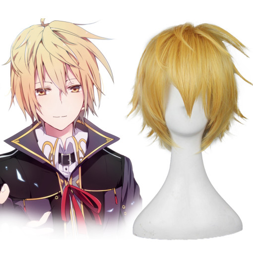 Rulercosplay God Eater Julius·Visconti Yellow Short Heat Resistant Fiber Cosplay Anime Wigs Wholesal
