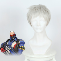 Rulercosplay Overwatch Soldier 76 Short Silver Gray Cosplay Wigs Wholesaler Reseller
