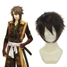Rulercosplay Hakuouki Okita Souji Short Brown Anime Cosplay Wigs Wholesaler Resaler