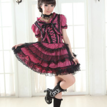Knee-length Dress with Coat and Lace Lolita Dress