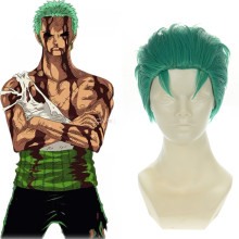 Rulercosplay One Piece Roronoa Zoro Short Green Cosplay Anime Wigs Wholesaler Resaler