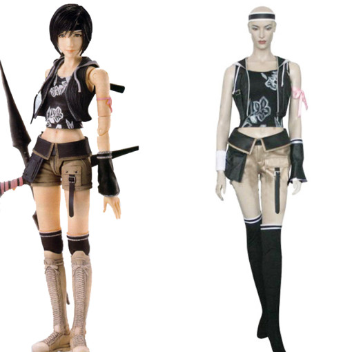 Rulercosplay Final Fantasy VII Yuffie Kisaragi Black Cosplay Costume Wholesaler Resaler