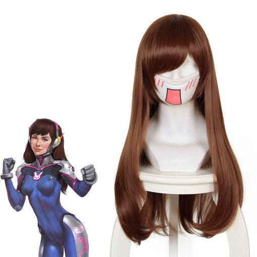 Rulercosplay Overwatch D.VA Long Brown Game Cosplay Wigs Wholesaler Resaler