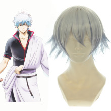 Rulercosplay Short Gintama Sakata Gintoki Transsexual White Cosplay Anime Wigs Wholesaler Resaler