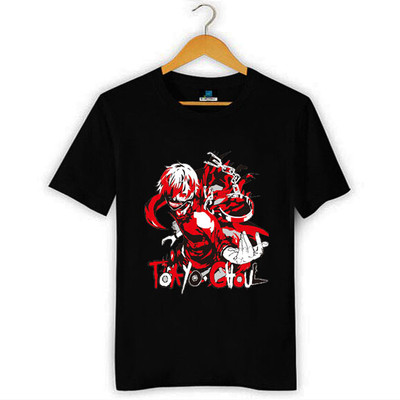 Black Cotton Tokyo Ghouls Prints T-shirt Anime Products