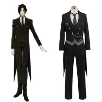 Rulercosplay Black Butler Uniform Cloth Sebastian·Michaelis Black Cosplay Costume Wholesaler Resaler