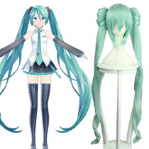 Rulercosplay Hatsune Miku Green Heat Resistant Fiber Green Long Curly Cosplay Anime Wigs Wholesaler