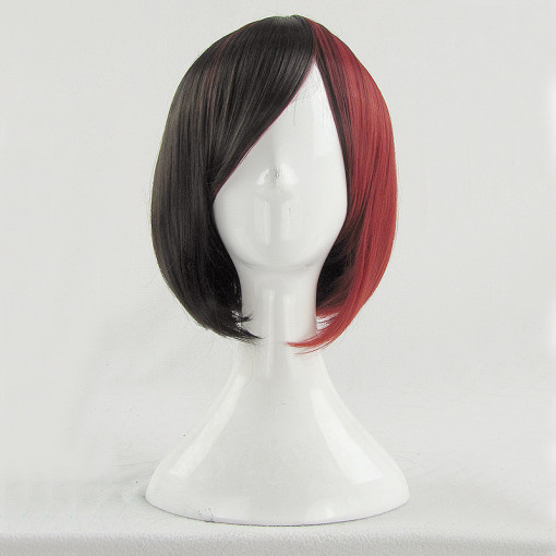 Rulercosplay Short Straight Black With Red Lolita Wigs Wholesaler Resaler