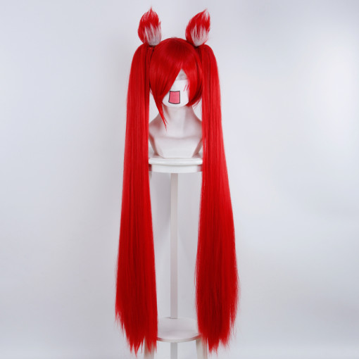 Rulercosplay League of Legends Jinx、The Loose Cannon Red Anime Cospaly Wigs