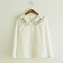 Fruit Embroidery Collar Long Sleeves Sweet Lolita Blouse for Women