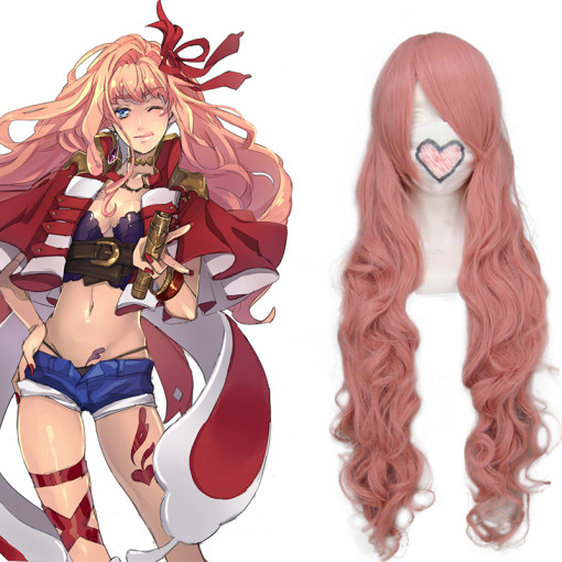Rulercosplay Heat Resistant Fiber Inspired By Macross Series Sheryl Nome Long Curly Pink Anime Wigs
