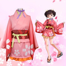 Rulercosplay Kabaneri Of The Iron Fortress Mumei Pink Kimono Cosplay Costume Wholersaler Resaler