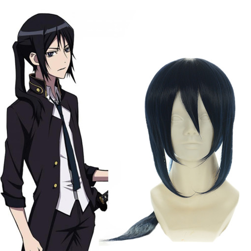 Rulercosplay Heat Resistant Fiber Inspired By InuYasha Yatogami Kuroh Long Straight Black  Anime Wig