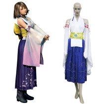 Rulercosplay Final Fantasy X Yuna Blue  Uniform Cloth Cosplay Costume Wholesaler Resaler