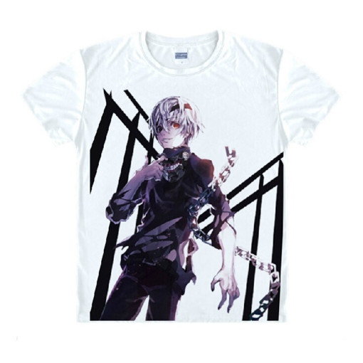 Tokyo Ghoul Fashion Animation White Smooth Decron T-shirt 030 More Patterns