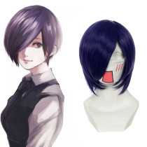 Rulercosplay Tokyo Ghoul Kirishima Touka Purple Short Anime Cosplay Anime Wigs Wholesaler Resaler