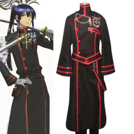 Rulercosplay D Gray-Man Kanda Yuu 3rd Uniform Black Cosplay Costume Wholesaler Resaler