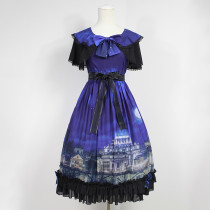 Rulercosplay Customized Vatican Castle Pattern Lolita Chiffon Dress 3 Colors Anime Cosplay Costumes