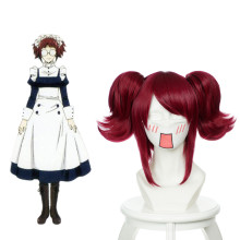 Rulercosplay Heat Resistant Fiber Inspired By Black Butler Merlin Medium Red Anime Wigs Wholesaler R