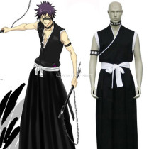 Rulercosplay Black Uniform Cloth Bleach 9th Division Lieutenant Hisagi Shuuhei Cosplay Costume Whole