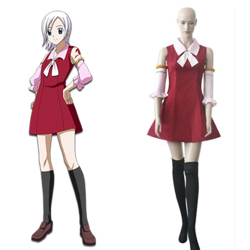 Rulercosplay Fairy Tail Lisanna Cosplay Red Costume Wholesaler Resaler