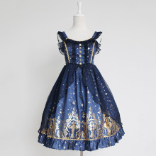 Rulercosplay Customized Hot Stamping Polyester And Gauze Lolita Braces Dress 4 Colors Wholesaler Res