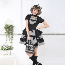 Knee-length Dress with Short Sleeve Tutu Lace Lolita Dress