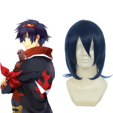 Rulercosplay Anime Tengen Toppa Simon Heat Resistant Fiber Blue Cospaly Anime Wigs Wholesaler Resale