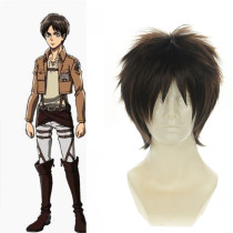 Rulercosplay Heat Resistant Fiber Inspired By Attack On Titan Eren Jager Short Brown Anime Wigs Whol