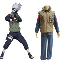 Rulercosplay Naruto Hatake Kakashi Pattern Green Cotton Cosplay Costume Wholesaler Resaler