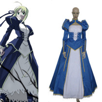 Rulercosplay Fate Zero Saber Blue Satin Cosplay Costume Wholesaler Resaler
