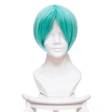 Rulercosplay Land of the Lustrous Phosphophyllite Blue Green Mixed Anime Cosplay Wigs