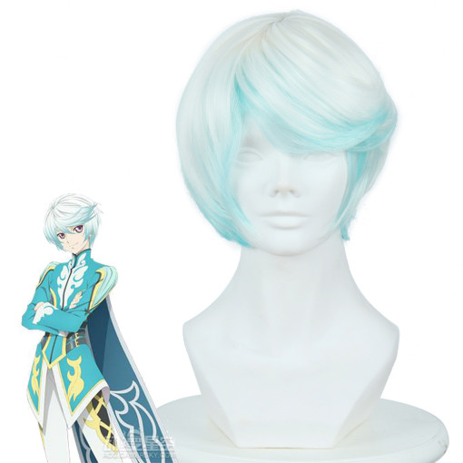 Rulercosplay Tales Of Zestiria The X Mikleo White And Cyan Short Anime Cosplay Wigs Wholesaler Resal