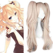 Rulercosplay Dangan Ronpa Junko Enoshima Long Curly Pink Cosplay Anime Wigs Wholesaler Resaler
