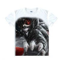 Tokyo Ghoul Fashion Animation White Smooth Decron T-shirt 039 More Patterns
