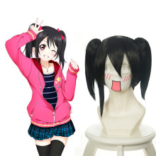 Rulercosplay Short Black LoveLive! Yazawa Nico Original Shape Cosplay Anime Wigs Wholesaler Resaler