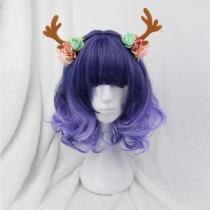 Rulercospaly Sweet Harajuku Original Purple BoBo Mixed Ombre Lolita Wigs